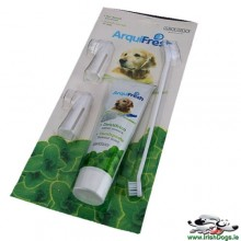 3pcs Brushes Dog Puppy Hygiene Teeth Care Toothbrush Toothpaste Set